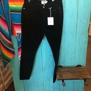 Frame LE HIGH SKINNY black velvet new with tag